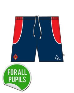 Gym Short - Embroidered with Dame Allan's Junior School Logo