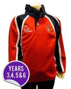 Rugby Shirt Top - Embroidered with Dame Allan's Junior School Logo