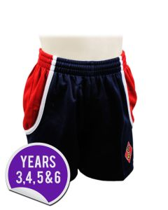 Rugby Shorts - Embroidered with Dame Allan's Junior School Logo