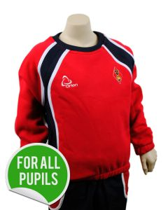 Sweat Shirt - Embroidered with Dame Allan's Junior School Logo