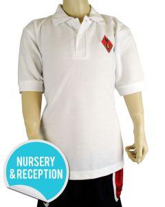 White Polo - Embroidered with Dame Allan's Junior School Logo