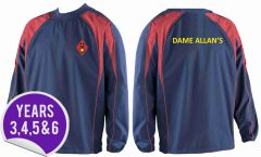 Pro Training Top (Years 3, 4, 5, 6) - Embroidered with Dame Allan's Junior School logo & Printed on the back