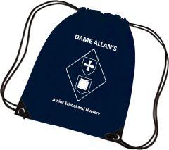 PE Bag - Printed with Dame Allan's Junior School logo