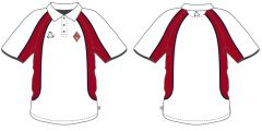 PE White Summer Polo Shirt - Embroidered with Dame Allan's Junior School Logo  (Years 3-6 ONLY)