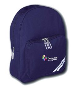Navy Infant Backpack - Embroidered with Darras Hall Primary School logo