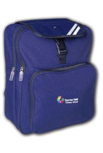 Navy Junior Backpack - Embroidered with Darras Hall Primary School logo