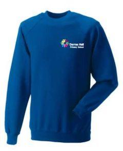 Royal Sweatshirt - Embroidered with Darras Hall Primary School logo
