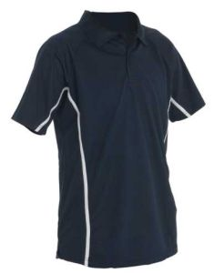 Year 5&6 PE Polo Top Navy/White - Embroidered Darras Hall Primary School *OPTIONAL*