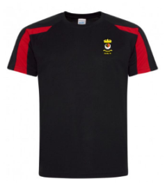 Black/Red PE T-Shirt - Printed with Duchess High School logo