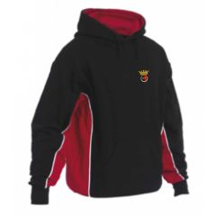 Black/Red/White Panelled Hooded Top - Embroidered with Duchess High School logo