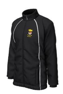 Black/White PE Elite Showerproof Jacket - Printed with Duchess High School logo