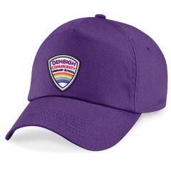 Purple Baseball Cap - Printed With Denbigh Primary School Logo