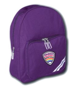 Purple Infant Backpack - Embroidered with Denbigh Primary School Logo