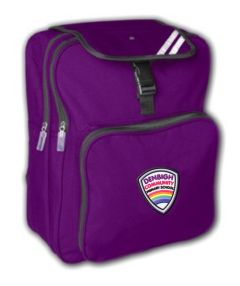 Purple Junior Backpack - Embroidered with Denbigh Primary School Logo