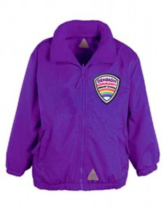 Purple Mistral Shower Proof Jacket - Embroidered With Denbigh Primary School Logo