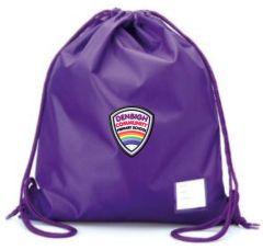 Purple PE Bag - Embroidered with Denbigh Primary School Logo
