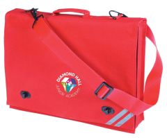 Red Document Case - Embroidered with Diamond Hall Junior Academy Logo