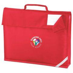 Red Bookbag - Embroidered with Diamond Hall Junior Academy Logo