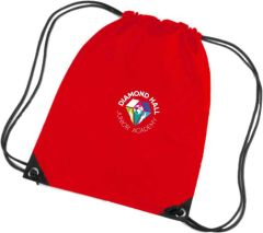 Red PE Bag - Embroidered with Diamond Hall Junior Academy Logo