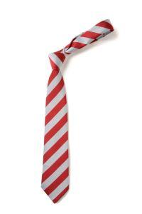 "Red/White Clip-on School Tie 14"""