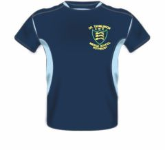 PE T-Shirt  - Embroidered with Dr Thomlinson CofE Middle School logo