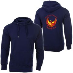 Navy Zipped Hoodie - Printed with Durham Phoenix Fencing Club Logo on Back