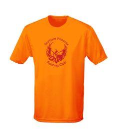 Orange Crush T-Shirt - Printed with Durham Phoenix Fencing Club Logo