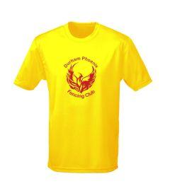 Yellow Cool T-Shirt - Printed with Durham Phoenix Fencing Club Logo