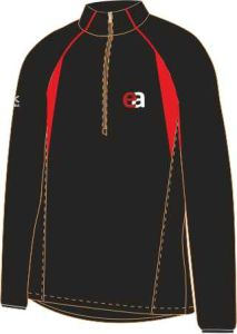 Black/Red Girls Fit Mid-Layer (MLG) - Embroidered with Easington Academy School Logo