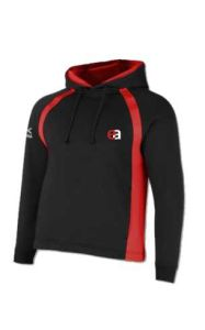 Black/Red Akoa Sector Zipped Hoodie (SHD)  - for Easington Academy School
