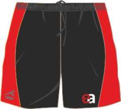 Black/Red AKOA Sector Panel Short (SSH) - Embroidered with Easington Academy School Logo