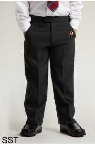 Boys Black Junior Sturdy Fit Trouser (SST) - Embroidered with Easington Academy School Logo