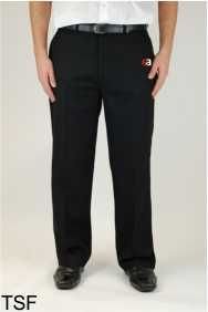 Boys Black Sturdy Fit Trouser - Embroidered with Easington Academy School Logo