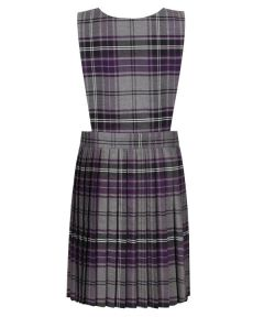 Junior Girls Pinafore - Purple/Grey Tartan - for Morpeth All Saints First School