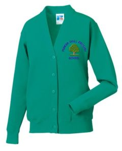 Emerald Cardigan - Embroidered With Forest Hall Primary School Logo