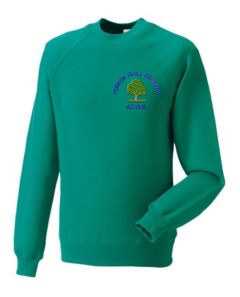 Emerald Sweatshirt - Embroidered With Forest Hall Primary School Logo