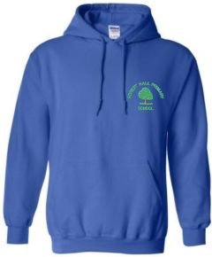 Royal Blue Hoodie - Embroidered with Forest Hall Primary School