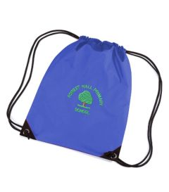 Royal PE Bag - Embroidered with Forest Hall Primary School Logo