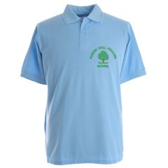 Sky Blue Polo - Embroidered With Forest Hall Primary School Logo