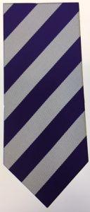 Purple/White Clip-on School Tie