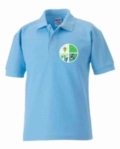 Sky Polo Shirt - Embroidered with Greenfields Community Primary School logo