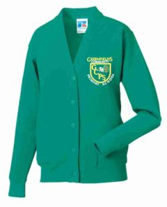 *SALE ITEM* Jade Sweat Cardigan - Embroidered with Greenfields Community Primary School logo