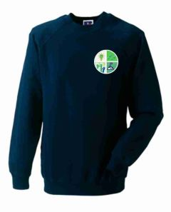 Navy Sweatshirt - Embroidered with Greenfields Community Primary School logo