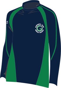 Navy/Emerald Rugby Shirt - Embroidered with Gosforth East Middle School logo