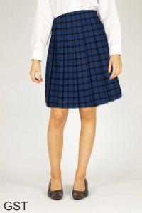 Royal Senior Stitch Down Pleat Tartan Skirt (GST) - for George Stephenson High School