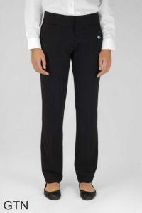 Senior Girls Twin Pocket Trouser (GTN) - Embroidered with George Stephenson High School Logo
