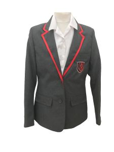 Grey Girls Contemporary Blazer (AGB) (Essential for all students) - Embroidered with Christ's College, Sunderland Logo