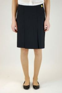 Black Senior Twin Pleat Skirt (GKS) - Embroidered with Parkside Academy Logo (ONLY SCHOOL APPROVED SKIRT)