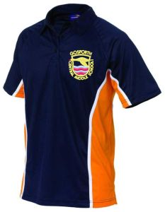 PE Polo Top - Embroidered with Gosforth Cental Middle School Logo and Printed With Pupil Initials- *ONLINE ORDER ONLY*