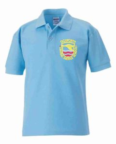 Sky Polo (SUMMER TERM ONLY) - Embroidered with Gosforth Central Middle School logo